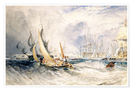 Premium poster  Gosport: The Entrance to Portsmouth Harbour - Joseph Mallord William Turner