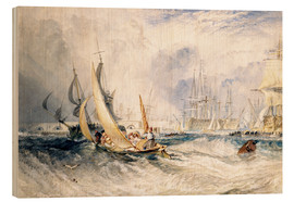 Wood print  Gosport: The Entrance to Portsmouth Harbour - Joseph Mallord William Turner