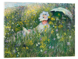 Acrylic print  In the Meadow - Claude Monet