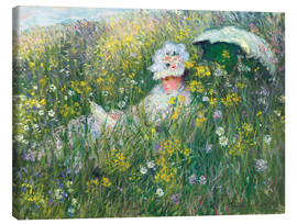 Canvas  In the Meadow - Claude Monet