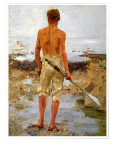 Premium poster A Boy with an Oar