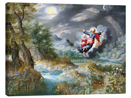 Jan Brueghel d.Ä. - God creating the sun, the moon and the stars in the Firmament