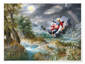 Premium poster  God creating the sun, the moon and the stars in the Firmament - Jan Brueghel d.Ä.