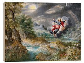 Wood  God creating the sun, the moon and the stars in the Firmament - Jan Brueghel d.Ä.