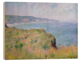 Wood  Edge of the Cliff, Pourville - Claude Monet