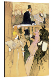 Aluminium print  At the Opera Ball - Henri de Toulouse-Lautrec