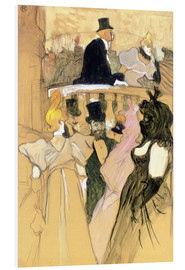 Foam board print  At the Opera Ball - Henri de Toulouse-Lautrec