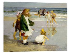 Acrylic print  Play in the Surf - Edward Henry Potthast