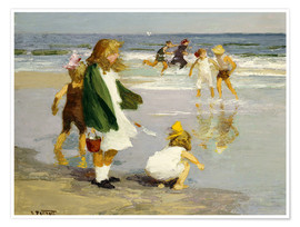 Premium poster  Play in the Surf - Edward Henry Potthast
