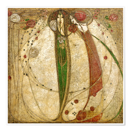 Premium poster  The white rose and the red rose - Margaret MacDonald Mackintosh