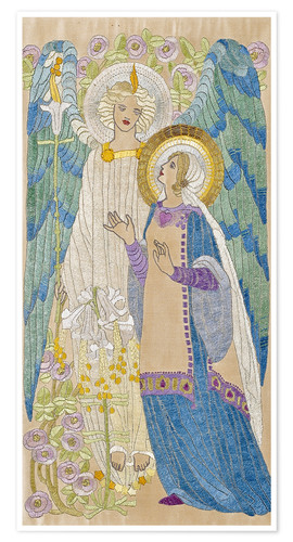 Premium poster The Annunciation, Glasgow School Embroidery, 1910