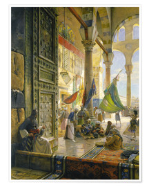 Premium poster Forecourt of the Ummayad Mosque, Damascus, 1890