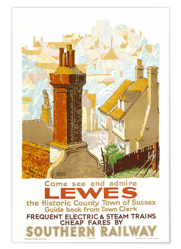 Premium poster Come see and admire Lewes