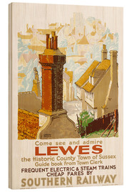 Wood print  Come see and admire Lewes - Gregory Brown