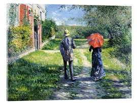 Acrylic print  The Path Uphill - Gustave Caillebotte