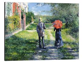 Aluminium print  The Path Uphill - Gustave Caillebotte