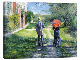 Canvas print  The Path Uphill - Gustave Caillebotte