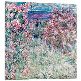 Foam board print  The Garden at Giverny - Claude Monet