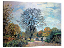 Canvas print  A Road in Seine-et-Marne - Alfred Sisley