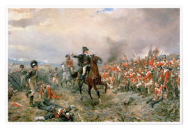Premium poster The Duke of Wellington at Waterloo