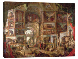 Canvas print  Furniture of an imaginary picture gallery - Giovanni Paolo Pannini