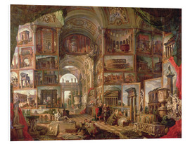 Forex  Furniture of an imaginary picture gallery - Giovanni Paolo Pannini