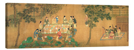 Canvas  Scholars' Gathering in a Bamboo Garden - Chinese School