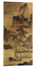 Acrylic print  Scene from Hermits' long days in the quiet mountains - Tang Yin