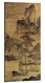 Aluminium print  Scene from Hermits' long days in the quiet mountains - Tang Yin