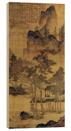 Wood print  Scene from Hermits' long days in the quiet mountains - Tang Yin