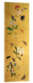 Acrylic print  100 butterflies, flowers and insects, detail - Chen Hongshou
