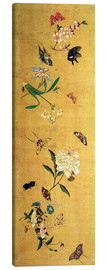 Canvas print  100 butterflies, flowers and insects, detail - Chen Hongshou