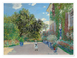 Premium poster The Artist's House at Argenteuil
