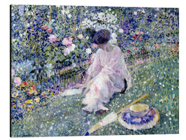 Aluminium print  Garden in June, 1911 - Frederick Carl Frieseke