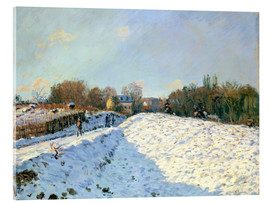 Acrylic glass  Snow at Argenteuil - Alfred Sisley