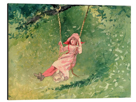 Aluminium print  Girl on a Swing - Winslow Homer