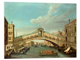Foam board print  Grand Canal and the Rialto Bridge - Antonio Canaletto