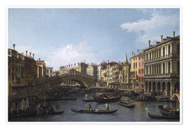 Premium poster Grand Canal and the Rialto Bridge