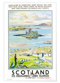 Premium poster  Scotland, it's Highlands and Islands - Scottish School