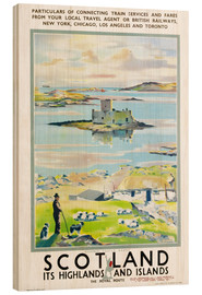 Wood print  Scotland, it's Highlands and Islands - Scottish School