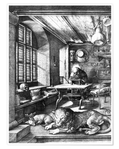 Premium poster St. Jerome in his Study