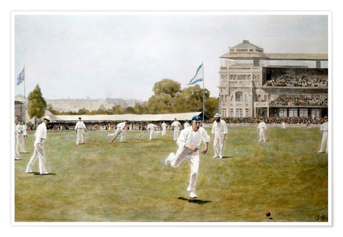 Premium poster Cricket at Lords, 1896