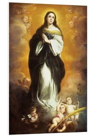 Foam board print  The Immaculate Conception - Bartolome Esteban Murillo