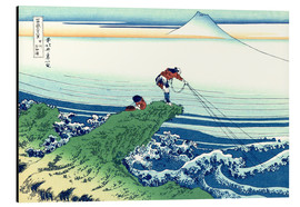 Katsushika Hokusai - A fisherman stands on a rock on Kajikazawa in Kai Province