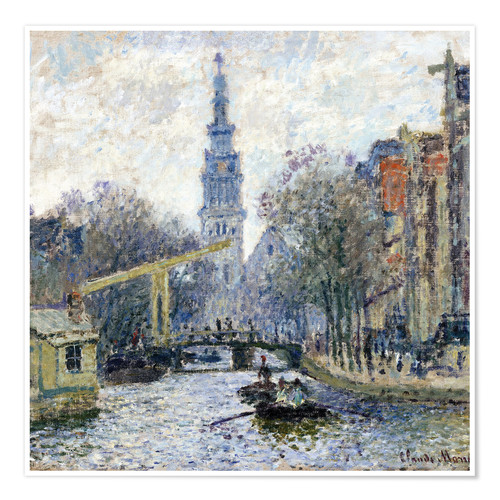 Premium poster Canal a Amsterdam