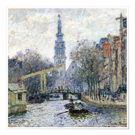 Premium poster  Canal a Amsterdam - Claude Monet