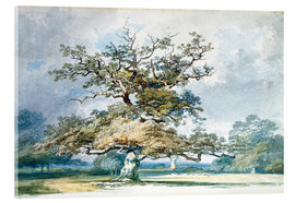 Acrylic print  A Landscape with an Old Oak Tree - Joseph Mallord William Turner