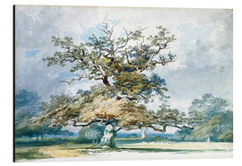 Aluminium print  A Landscape with an Old Oak Tree - Joseph Mallord William Turner