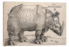 Wood print  The rhinoceros - Albrecht Dürer