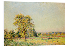 Foam board print  A Summer's Day, 1886 - Alfred Sisley